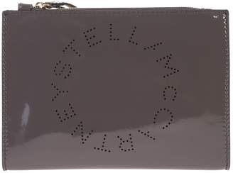 Stella McCartney Grey Branded Clutch