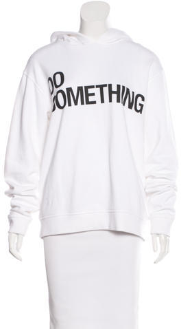 Alexander Wang Alexander Wang 'DO SOMETHING' Hooded Sweatshirt