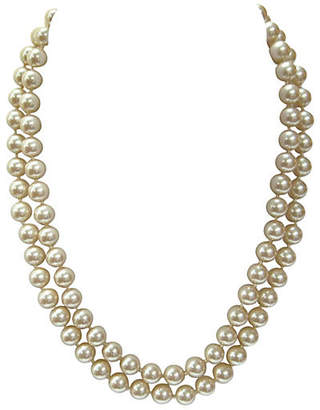 One Kings Lane Vintage Champagne Double-Strand Pearl Necklace - Wisteria Antiques Etca