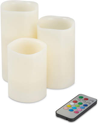Trademark Global 4-Pc. Color Changing Flameless Led Candles Set & Remote Control