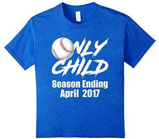 Only Child Expiring April 2017 With Baseball Tee Shirt