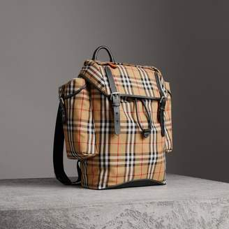 Burberry Vintage Check and Leather Backpack