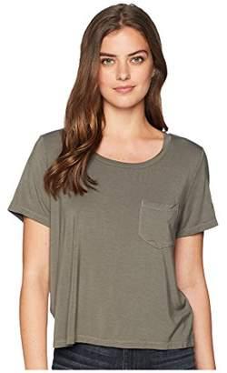 Splendid Women's 100% Cotton Crewneck Short Sleeve Tee T-Shirt