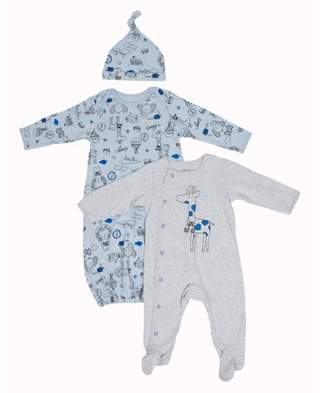 Vitamins Baby Vitamins Newborn Baby Boy Gown, Sleep 'N Play, and Hat, 3pc Set