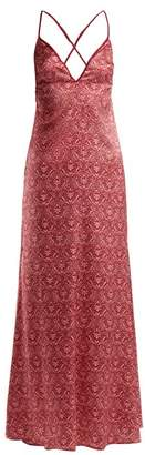 6c872a8d67f V A Coco De Mer Signature Silk Blend Nightdress - Womens - Red Print