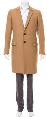 Christian Dior Notch-Lapel Camel Coat