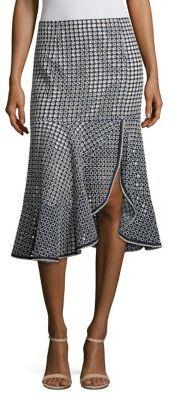 Nanette Lepore Surfside Geometric Print Skirt $348 thestylecure.com
