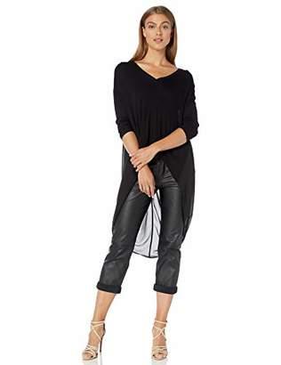 BCBGMAXAZRIA Women's High-Low Knit Top