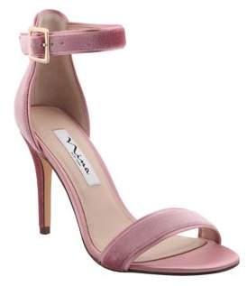 Nina Caela Velvet Ankle-Strap Sandals