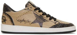 Golden Goose Brown Drawing Ball Star Sneakers