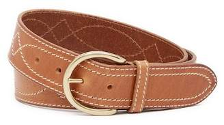 Frye Campus Stitching Leather Belt