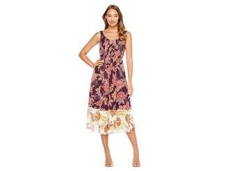 Donna Morgan Pleat Front Chiffon Maxi Dress Women's Dress