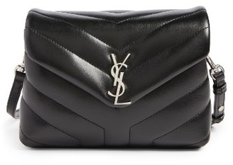 Saint Laurent Toy Loulou Calfskin Leather Crossbody Bag - Black $1,150 thestylecure.com