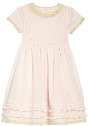 Boden Mini Lace Trim Fit & Flare Dress