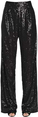 Ingie Paris Flared Sequined Tulle Pants