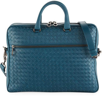 Bottega Veneta Men s Slim Woven Leather Briefcase 6dfe9de322