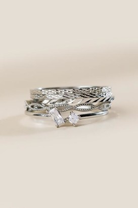 francesca's Leah Stacking Ring Set - Silver