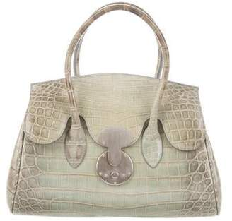 890b412457a0 Ralph Lauren Ricky Crocodile Handle Bag