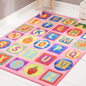 Eric Carle ABCs Educational Pink Area Rug Rug