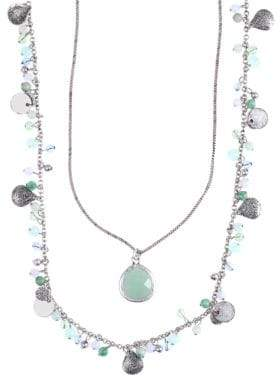 lonna & lilly Silver-Plated Double Strand Necklace