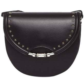 Jimmy Choo Crossbody Bags Shoulder Bag In Smooth Leather With Metal Ring And Micro Studs