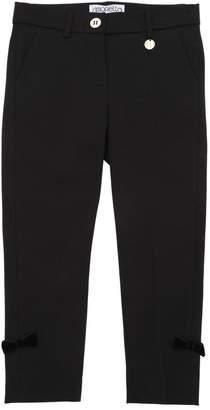 Simonetta Milano Jersey Pants W/ Velvet Bows
