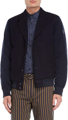 Scotch & Soda Midnight Wool Bomber Jacket