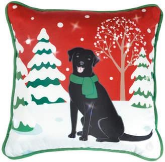 CHF Lite Me Up Christmas Dog Led Decorative Pillow