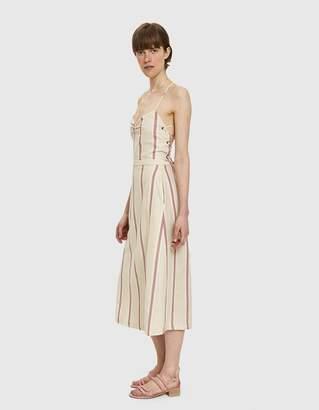Farrow Laca Cross Back Midi Dress