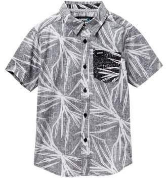 TONY HAWK Single Pocket Woven Button Up Shirt (Big Boys)