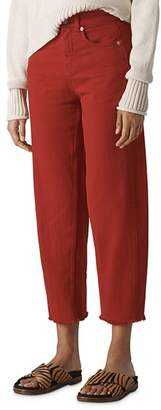 Whistles High Rise Barrel Leg Jeans in Rust