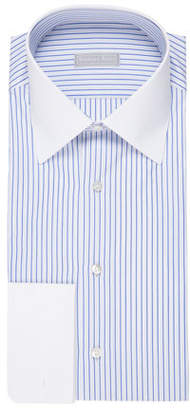 Stefano Ricci Striped Dress Shirt with Contrast Trim