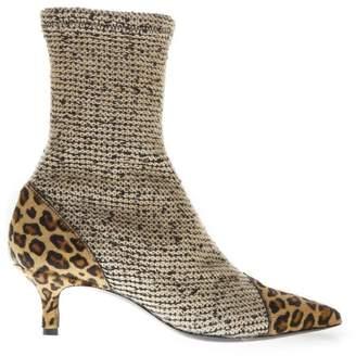 Aldo Castagna Multicolored Suede And Fabric Boots