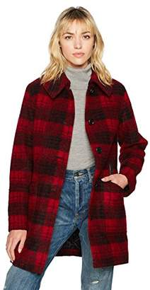 Pendleton Women's Plaid Wool Boucle Club Collar Coat