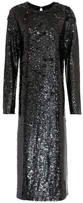 McQ Sequinned midi dress