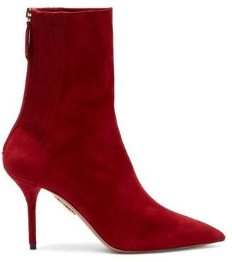 Aquazzura Saint Honore 85 Ankle Boots - Womens - Red