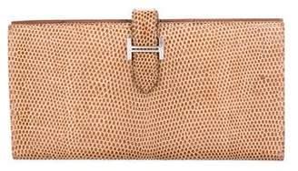 Hermes Lizard Bearn Wallet