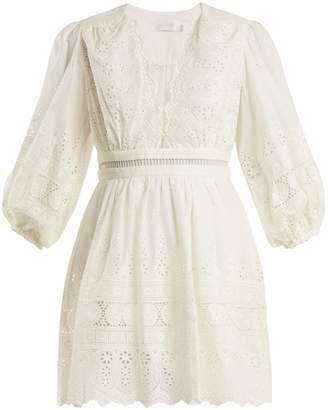 Zimmermann Kali embroidered cotton dress