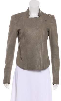Helmut Lang Leather Asymmetrical Jacket