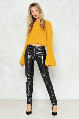 Nasty Gal Ring 'Em Up Faux Leather Pants