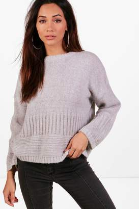 boohoo Petite Wide Sleeve Oversized Jumper