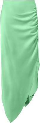 Peter Pilotto Satin Ruched Asymmetrical Skirt