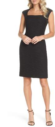 Eliza J Cap Sleeve Sheath Dress