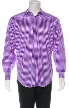 Etro Gingham French Cuff Shirt