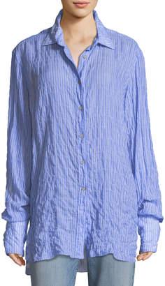 Elizabeth and James Francois Long-Sleeve Button-Front Seersucker Shirt
