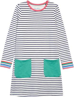 Boden Mini Fun Pocket Long Sleeve Jersey T-Shirt Dress