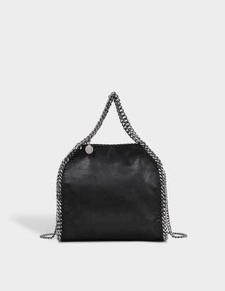 Stella McCartney Minibella Tote Silver Chain Bag in Black Eco Leather