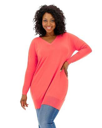 Fashion World Coral Bar Back Tunic
