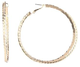Free Press Double Twisted 70mm Hoop Earrings