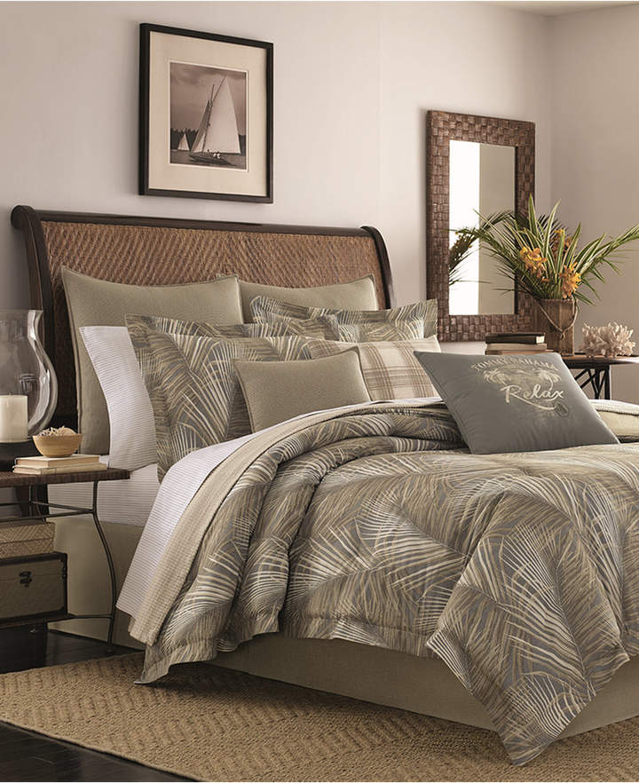 Tommy Bahama Home Raffia Palms Reversible 4-Pc. California King Comforter Set Bedding